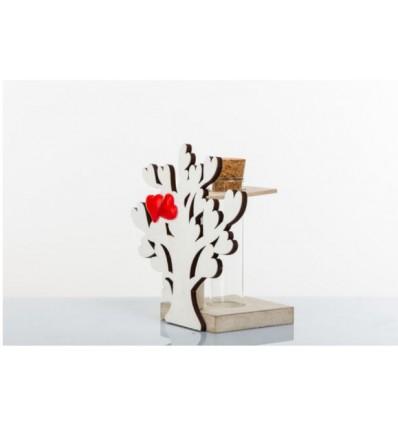 Vasetto fiore provetta (h3071)