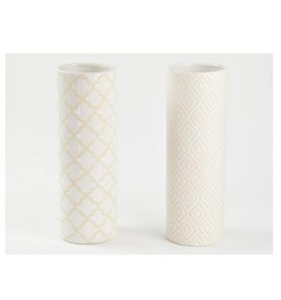 Vasetto ceramica bianco 11,5 x h 33,5
