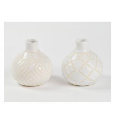 Vasetto in ceramica bianco 10 x 10