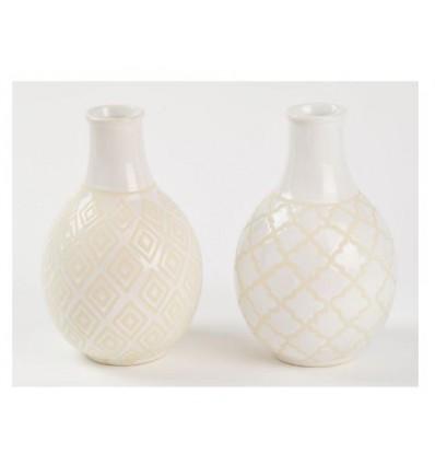 Vasetto in ceramica bianco 13 x 20