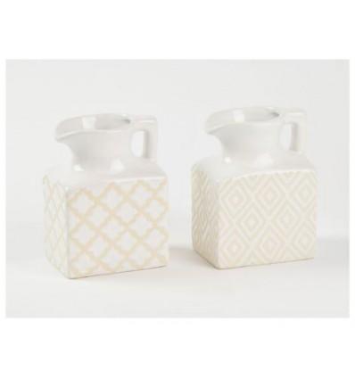 Vasetto in ceramica bianco 7 x 13,5