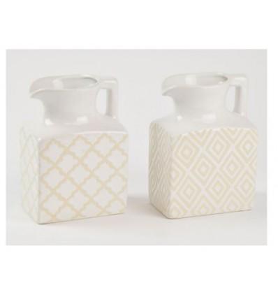 Vasetto in ceramica bianco 9 x 19