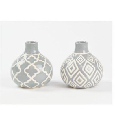 Vasetto in ceramica grigio 10 x 10