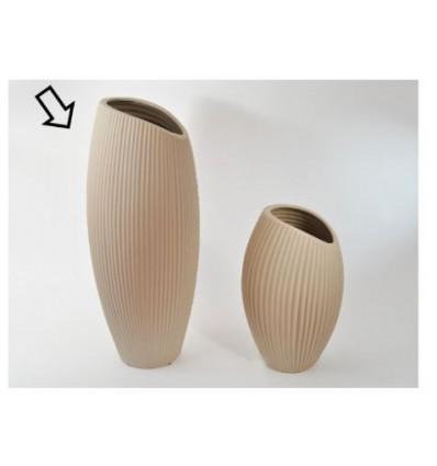 Vaso ceramica h 50 cm tortora