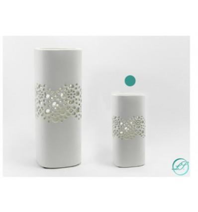 Vaso in ceramica bianco h 26