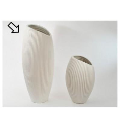 Vaso in ceramica bianco h 50
