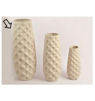 Vaso in ceramica tortora h 45 cm
