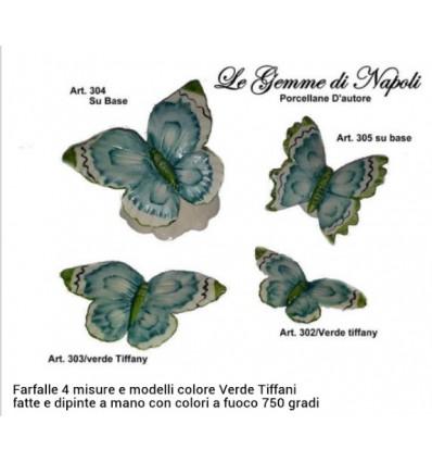 Farfalla capodimonte verde tiffani