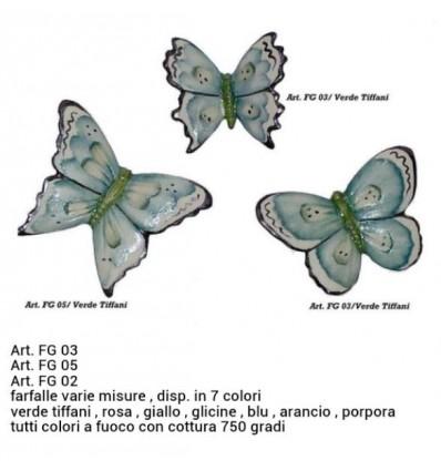 Farfalla capodimonte verde tiffani piccola