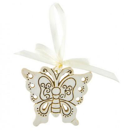 Farfalla crema da appendere